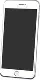 Witte geïsoleerde smartphonevector Stock Foto's