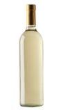 Witte geïsoleerde wijnfles Royalty-vrije Stock Foto's