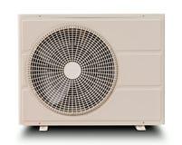 Witte geïsoleerdeC luchtcompressor Royalty-vrije Stock Foto