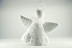 Witte geïsoleerdee engel Stock Foto