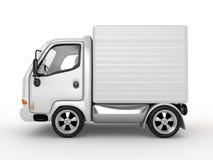 Witte geïsoleerdeu Bestelwagen Royalty-vrije Stock Foto