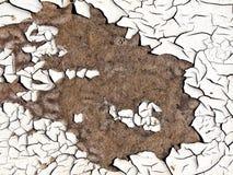 Witte gebarsten verf. Royalty-vrije Stock Fotografie