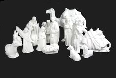 Witte Geboorte van Christus stock fotografie