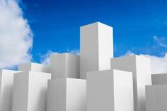 Witte gebouwen Royalty-vrije Stock Afbeelding