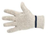 Witte gebreide handschoen Royalty-vrije Stock Afbeelding