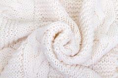 Witte gebreide sjaal Royalty-vrije Stock Afbeelding