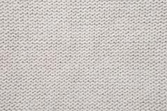 Witte gebreide stoffentextuur Royalty-vrije Stock Foto's