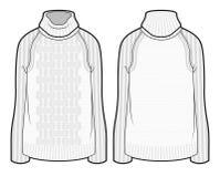 Witte gebreide sweater Royalty-vrije Stock Foto's