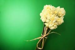 Witte Gekleurde Erlicheer-Gele narcis of Gele narcisbloemen Stock Foto
