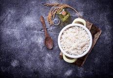 Witte gekookte rijst op pot Royalty-vrije Stock Fotografie