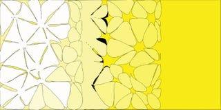 Witte Gele Gestileerde Bloemenachtergrond royalty-vrije illustratie