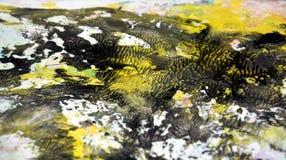 Witte gele zwarte zachte achtergrond, tinten, de achtergrond van de waterverfverf vector illustratie