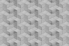 Witte Geometrische Architectuur Symmetrische Ruit of Luier Herhaald Patroon Verticaal Achtergrondtextuurbehang royalty-vrije stock foto