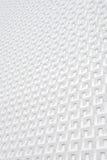 Witte geometrische muur Royalty-vrije Stock Foto