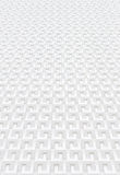 Witte geometrische muur Royalty-vrije Stock Fotografie