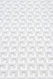 Witte geometrische muur Stock Fotografie