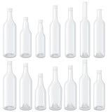 Witte geplaatste Flessen Stock Foto