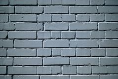 Witte geschilderde bakstenen muur Royalty-vrije Stock Fotografie