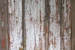 Witte geschilderde houten planken Stock Afbeelding