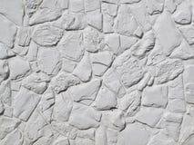 Witte Geschilderde Rotsmuur Royalty-vrije Stock Foto's