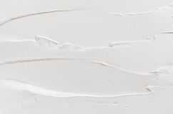Witte gesmeerde pleistertextuur Lichtgewicht moderne abstracte achtergrond Royalty-vrije Stock Foto's