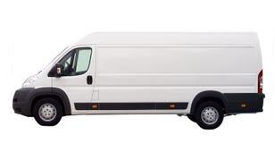 Witte geïsoleerde bestelwagen Stock Afbeeldingen