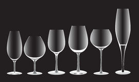 Witte glazenvormen Vector Illustratie
