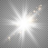Witte gloed lichteffect stock illustratie