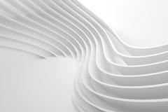 Witte Golfachtergrond Abstract Minimaal Buitenontwerp Royalty-vrije Illustratie