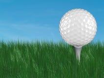 Witte golfbal op T-stuk Stock Foto's