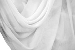 Witte gordijnen Stock Foto