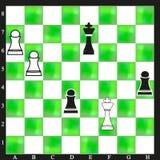 Witte groene schaakbord mooie achtergrond stock foto's