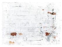 Witte grungy bakstenenachtergrond Stock Afbeelding