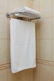 Witte handdoek Stock Foto's