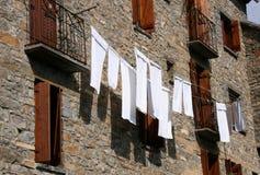 Witte handdoeken Royalty-vrije Stock Afbeeldingen