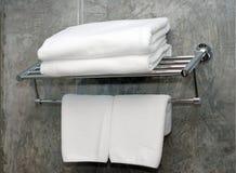 Witte handdoeken royalty-vrije stock foto