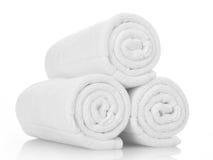 Witte Handdoeken Stock Afbeelding