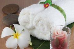 Witte handdoeken rol Stock Afbeeldingen