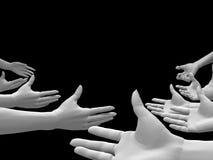 Witte handen royalty-vrije illustratie