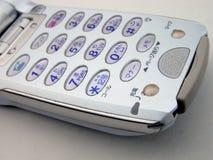 Witte handige telefoon royalty-vrije stock fotografie