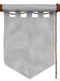 Witte hangende banner, type - 2 Royalty-vrije Stock Afbeelding
