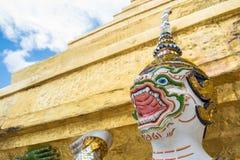 Witte Hanuman droeg de grote pagode Royalty-vrije Stock Afbeeldingen