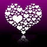 Witte hart grafische achtergrond Royalty-vrije Stock Afbeeldingen