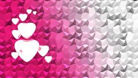 Witte harten op achtergrond Stock Foto