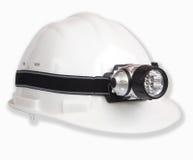 Witte helm en lantaarn Stock Foto