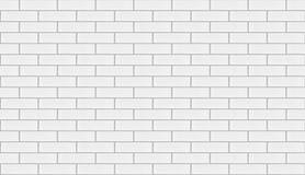Witte herhaalbare bakstenen muurachtergrond Royalty-vrije Stock Afbeelding