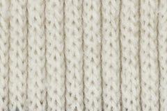 Witte het breien woltextuur voor patroon en achtergrond Stock Fotografie