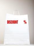 Witte het Winkelen Zak Stock Afbeelding