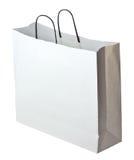 Witte het winkelen zak Royalty-vrije Stock Afbeelding