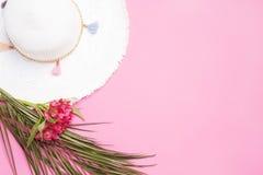 Witte hoed royalty-vrije stock afbeeldingen